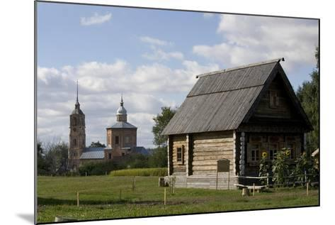 Russia, Suzdal, Wooden Buildings--Mounted Giclee Print
