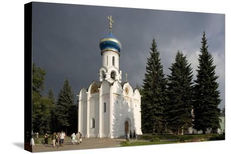 Russia, Sergiev Posad, Church of Holy Spirit at Trinity St Sergius Monastery--Stretched Canvas Print