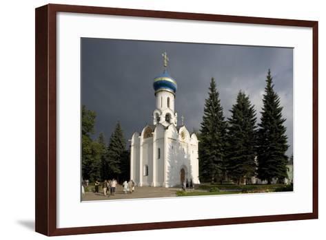 Russia, Sergiev Posad, Church of Holy Spirit at Trinity St Sergius Monastery--Framed Art Print