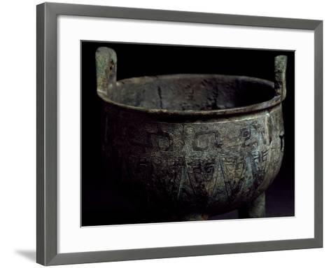 Bronze Food Vessel, China. Chinese Civilization, Western Zhou Dynasty, 10th Century BC--Framed Art Print