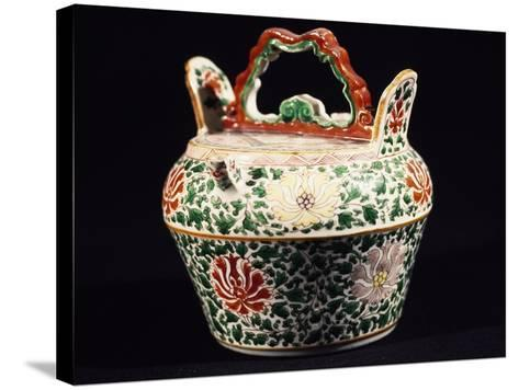 Container with Lid, Porcelain, Ming Period, 14th-17th Century--Stretched Canvas Print