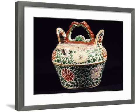 Container with Lid, Porcelain, Ming Period, 14th-17th Century--Framed Art Print