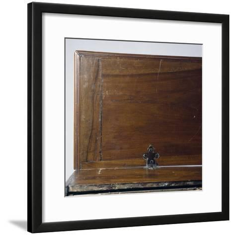 Seventeenth Century Style San Filippo Desk Rebuilt with Antique Woods, Italy, Detail--Framed Art Print