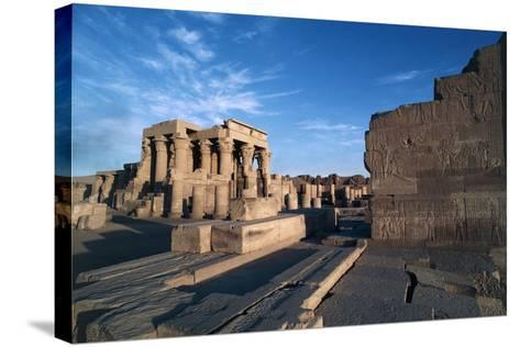 Egypt, Aswan, Kom Ombo, Temple of Sobek and Haroeri--Stretched Canvas Print