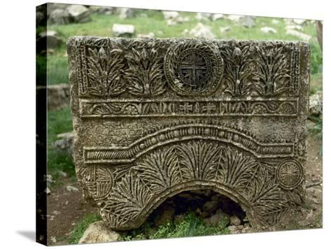Syria, Basilica of Saint Simeon Stylites, 5th Century, Relief, Cross--Stretched Canvas Print