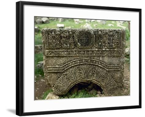 Syria, Basilica of Saint Simeon Stylites, 5th Century, Relief, Cross--Framed Art Print