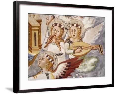Angels Playing Musical Instrument, Detail from Assumption of the Virgin--Framed Art Print