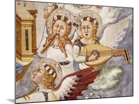Angels Playing Musical Instrument, Detail from Assumption of the Virgin--Mounted Giclee Print