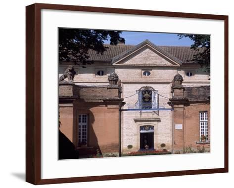 Facade of Chateau Latour, Midi-Pyrenees. Detail. France.--Framed Art Print