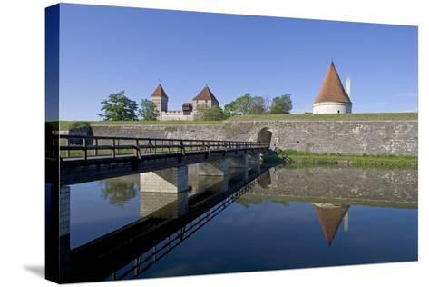 Estonia, Saaraa County, Saaremaa Island, Kuressaare, Kuressaare Episcopal Castle, Moat--Stretched Canvas Print