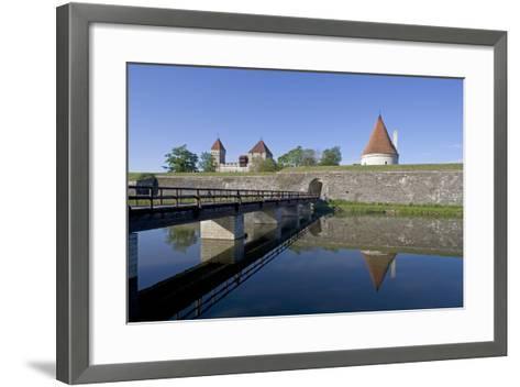 Estonia, Saaraa County, Saaremaa Island, Kuressaare, Kuressaare Episcopal Castle, Moat--Framed Art Print