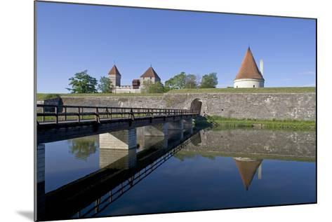 Estonia, Saaraa County, Saaremaa Island, Kuressaare, Kuressaare Episcopal Castle, Moat--Mounted Giclee Print
