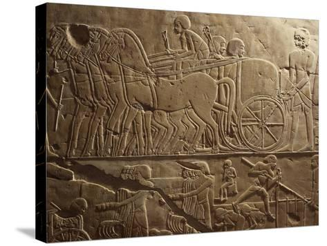 Agricultural Produce Being Transported to Granaries, Relief, Tomb of Khaemhat, known as Mahu--Stretched Canvas Print