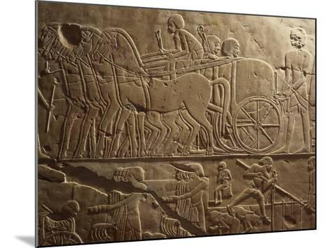 Agricultural Produce Being Transported to Granaries, Relief, Tomb of Khaemhat, known as Mahu--Mounted Giclee Print
