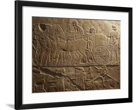 Agricultural Produce Being Transported to Granaries, Relief, Tomb of Khaemhat, known as Mahu--Framed Art Print