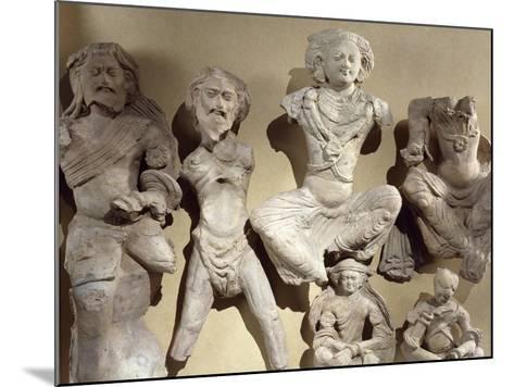 Buddha's Previous Lives, Visvamtara Jataka, Clay Figures from Tumshuq Province--Mounted Giclee Print