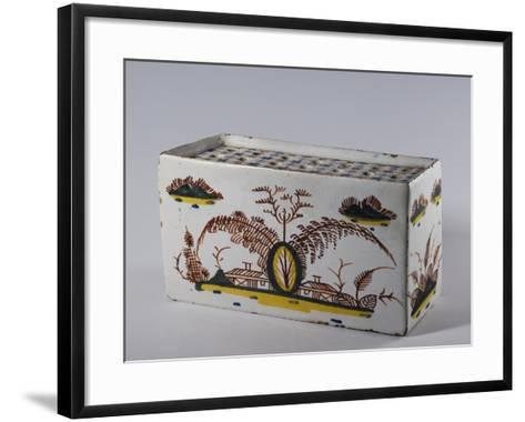 Vase with Oriental-Inspired Decorations, 1730, Ceramic--Framed Art Print