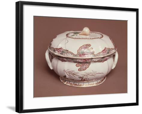 Tureen Decorated with Gold Pine, Ceramic, Felice Clerici Factory, Milan, Italy--Framed Art Print