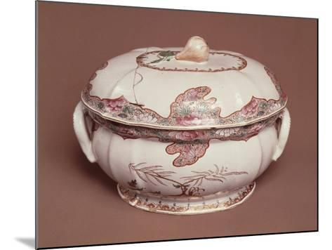 Tureen Decorated with Gold Pine, Ceramic, Felice Clerici Factory, Milan, Italy--Mounted Giclee Print