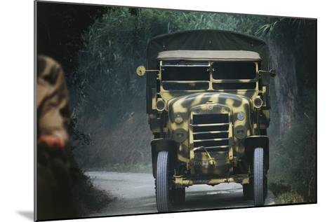 Meeting of Military Vehicles, Fiat Spa 35, 1935--Mounted Giclee Print