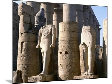 Egypt, Old Thebes, Luxor, Karnak Temple Complex, Precinct of Amun-Re, Court of Ramses II--Mounted Giclee Print
