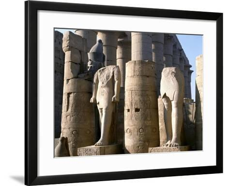 Egypt, Old Thebes, Luxor, Karnak Temple Complex, Precinct of Amun-Re, Court of Ramses II--Framed Art Print