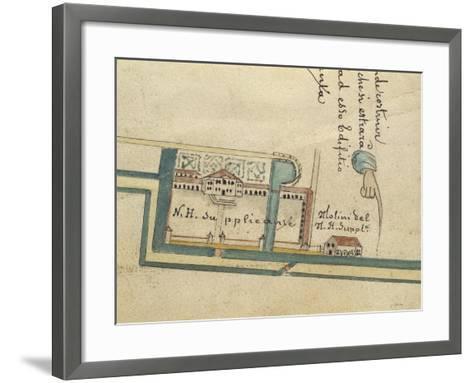 Map of Villa Contarini at Piazzola Sul Brenta, Padua Province--Framed Art Print