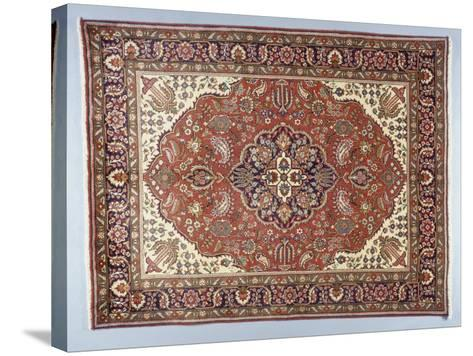 Rugs and Carpets: Iran - Tabriz Carpet--Stretched Canvas Print