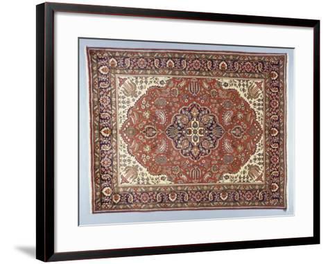 Rugs and Carpets: Iran - Tabriz Carpet--Framed Art Print