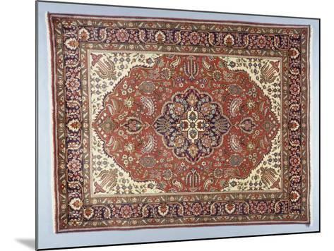 Rugs and Carpets: Iran - Tabriz Carpet--Mounted Giclee Print