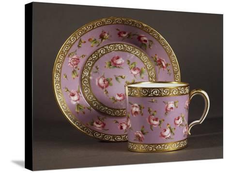 Litron Cup and Saucer, Circa 1780, Porcelain, Sevres Manufacture, Ile-De-France, France--Stretched Canvas Print