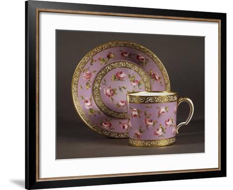 Litron Cup and Saucer, Circa 1780, Porcelain, Sevres Manufacture, Ile-De-France, France--Framed Art Print