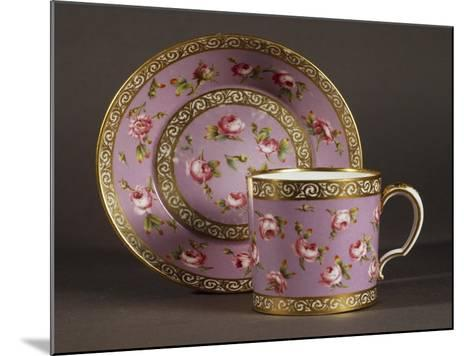 Litron Cup and Saucer, Circa 1780, Porcelain, Sevres Manufacture, Ile-De-France, France--Mounted Giclee Print