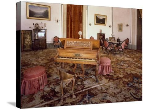 Music Room in National Palace of Mafra--Stretched Canvas Print