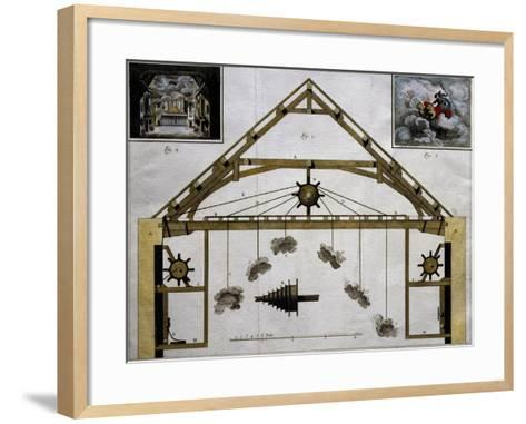 Theatre Machinery for Plays, France--Framed Art Print