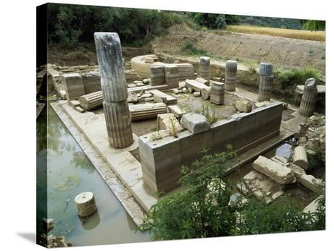View of the Sanctuary of the Oracle, Claros, Turkey. Roman Civilization, 5th Century BC--Stretched Canvas Print