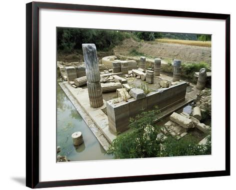 View of the Sanctuary of the Oracle, Claros, Turkey. Roman Civilization, 5th Century BC--Framed Art Print