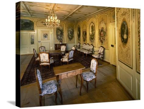Corot's Room, Gruyeres Castle, Switzerland--Stretched Canvas Print