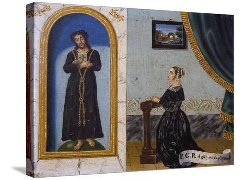 Jesus Invoked by Woman, Votive, 1846, Italy--Stretched Canvas Print