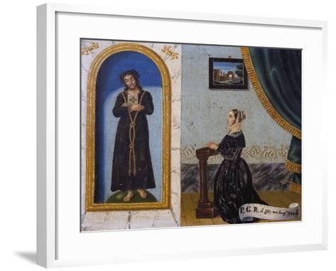 Jesus Invoked by Woman, Votive, 1846, Italy--Framed Art Print