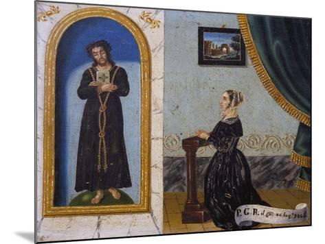 Jesus Invoked by Woman, Votive, 1846, Italy--Mounted Giclee Print