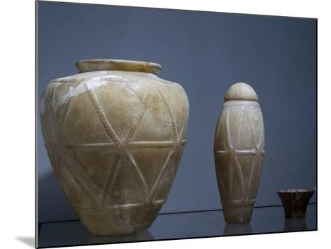 Vases, Alabaster, Archaic Period, I Dynasty--Mounted Giclee Print