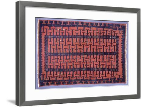Rugs and Carpets: Turkey - Anatolia - Kilim Carpet--Framed Art Print