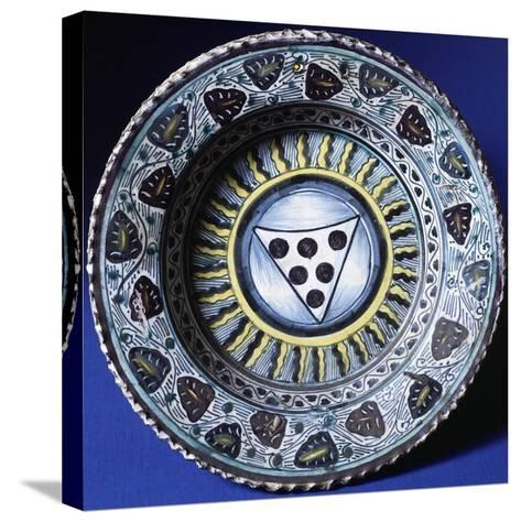 Plate, Ceramic, Florence Manufacture, Italy--Stretched Canvas Print