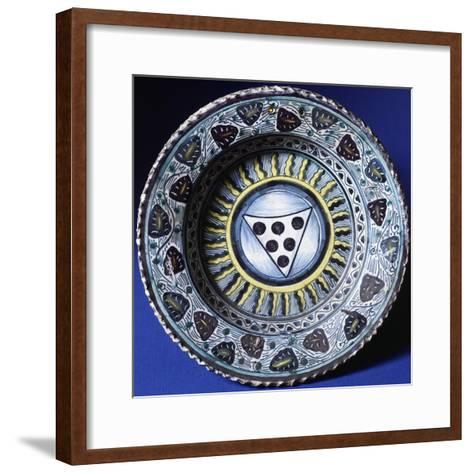 Plate, Ceramic, Florence Manufacture, Italy--Framed Art Print