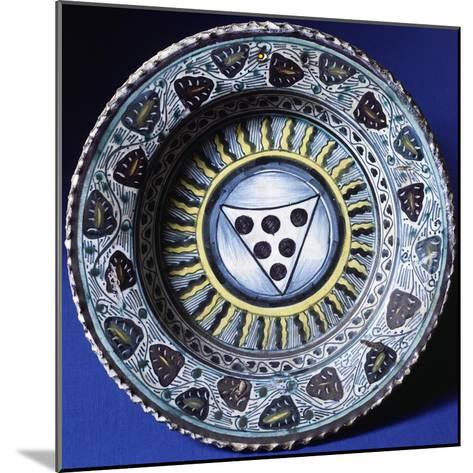 Plate, Ceramic, Florence Manufacture, Italy--Mounted Giclee Print