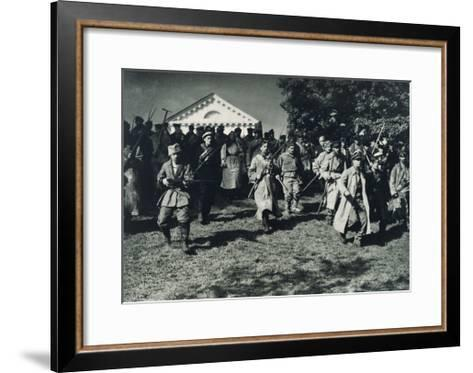 Scene from the Film, Knight Without Armor--Framed Art Print