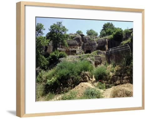 Ruins of Etruscan Necropolis of Norchia at Vetralla, Viterbo, Italy--Framed Art Print