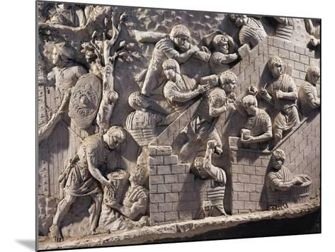 Cast of Trajan's Column, Detail of Soldiers Building Fortifications in Dacia--Mounted Giclee Print