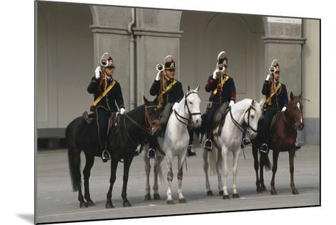 Horse Regiment Trumpeters at Cuirassiers Gala--Mounted Giclee Print